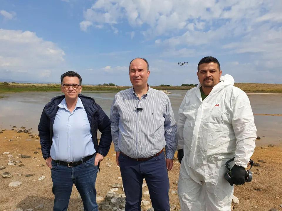 Αεροψεκασμοί κουνουποκτονίας στο αρχαίο λιμάνι του Λέχαιου